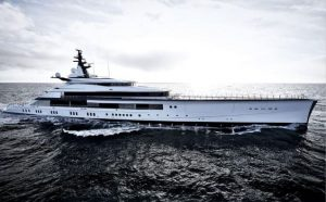 Eugenia and Jerry Jones' 357-feet-long yacht.