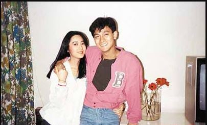 Andy Lau with his wife
