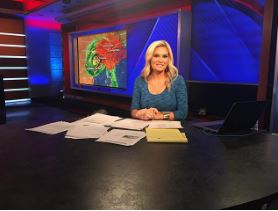Jackie covering for overnight Hurricane Harvey at the Fox News