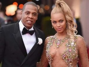Jay-Z with his wife, Beyonce