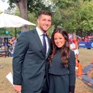 Kaylee with her alleged boyfriend, Tim Tebow