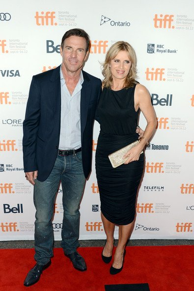 Kim Dickens and actor Dennis Quaid (L)during the 2012 Toronto International Film Festival at the Princess of Wales Theatre on September 9, 2012 in Toronto, Canada.