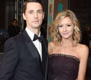 Sophie Dymoke with her husband, Matthew Goode