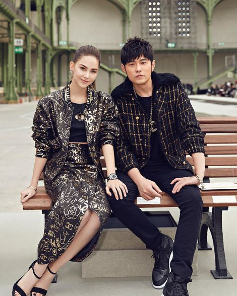 Jay Chou with his wife