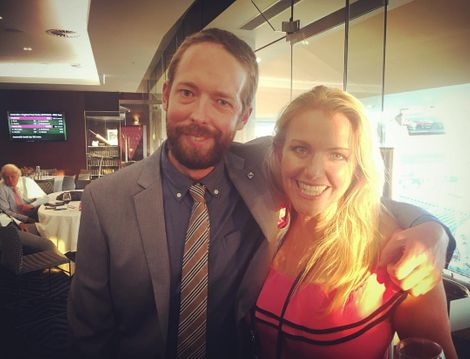 Melinda Farrell with her friendJesse Hogan,