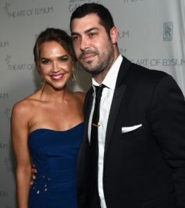 Arielle Kebbel with Aaron Bay-Schuck