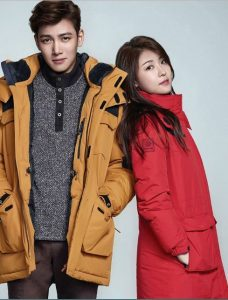 Ji Chang Wook and Ha Ji-Won are posing for a photo shoot.