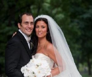 Julie Banderas on the wedding day with her husband, Andrew J. Sansone