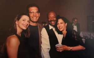 Kamala Harris with her ex-boyfriend, Willie Brown and their friends.