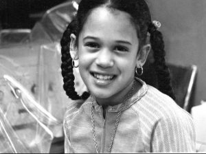Childhood photo of Kamala Harris