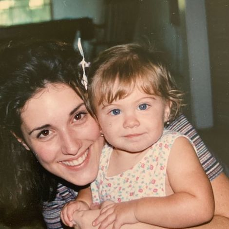 Carmella Rose in her childhood with her mother
