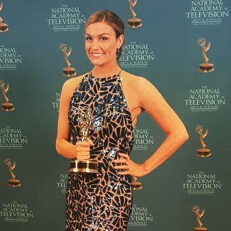 Jackie Bruno winning award