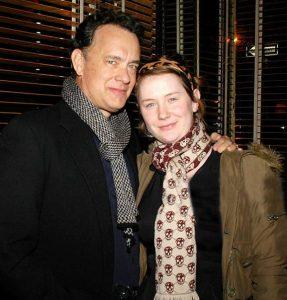 Elizabeth Hanks and her father, Tom Hanks attend Dinner Party for the Tastemaker Screening of STARTER FOR 10.