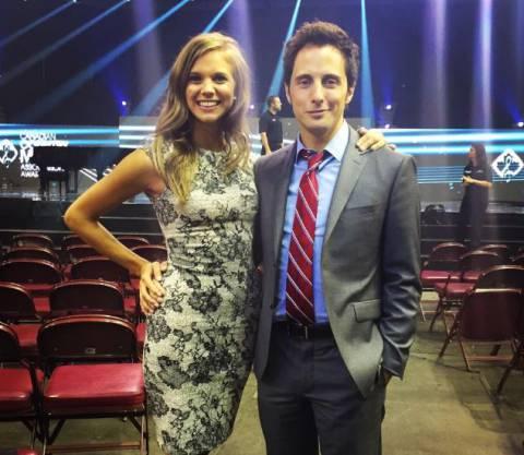 Jonny Harris with his fiance, Kaitlin Kozell