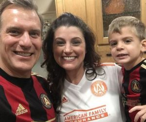 The couple with their son, Landen Benjamin Bettes