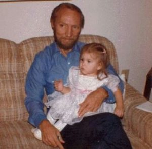 Brandi with her father during her early age
