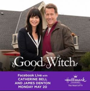 Catherine with James Denton in the season 5 of Hallmark Channel's Good Witch
