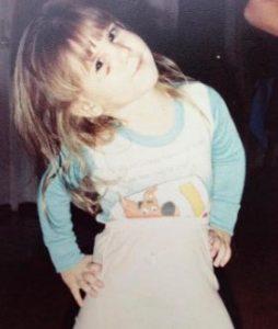 The childhood image of Brandi Passante
