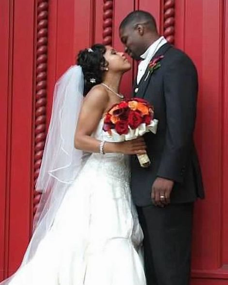 Sheinelle Jones with her spouse