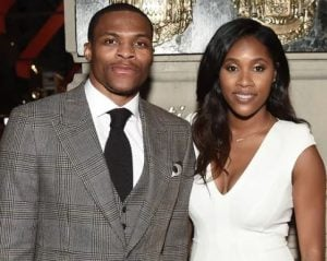 Nina Earl with her husband, Russell Westbrook