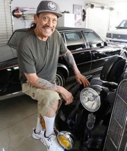 Danny Trejo with his classic vehicles