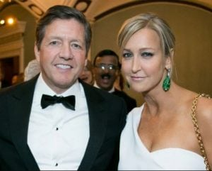 Lara Spencer with her present husband, Richard McVey