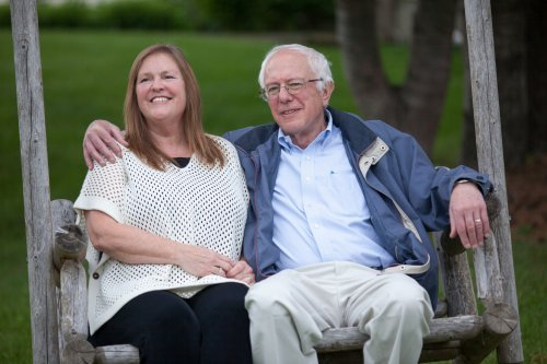 Bernie Sanders with his curremt wife, Jane O'Meara. relationship, marriage, wife, spouse, love personal life