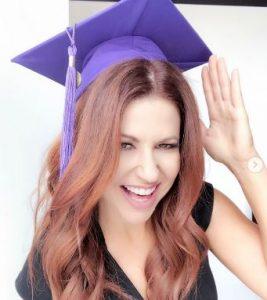 Rachel got invited to speak at the Journalism School's Graduation Ceremony