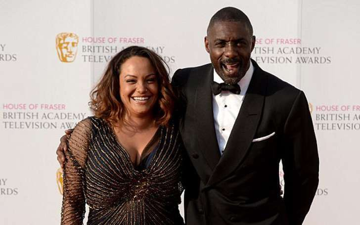 Sonya Hamlin with her ex-husband, Idris Elba