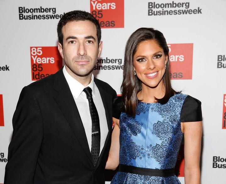 Ari Melber with his ex-wife