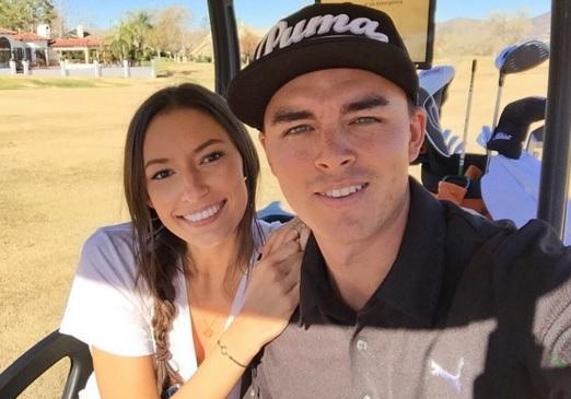 Alexis Randock with her ex-boyfriend, Rickie Fowler