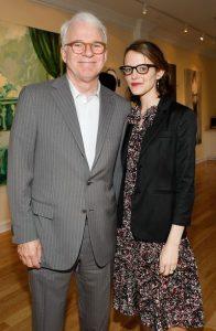 Anne Stringfield and her husband, Steve Martin in LA Art House.