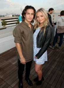 Natalie Alyn Lind with her ex-boyfriend, Aramis Knight.