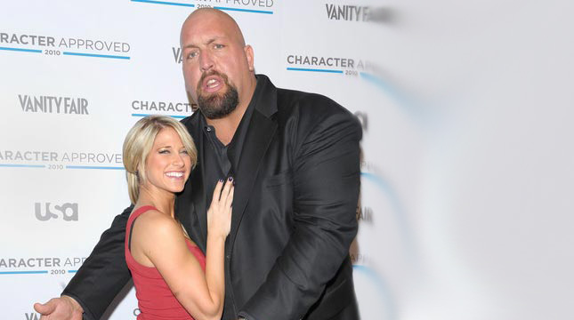 With her spouse, Big Show