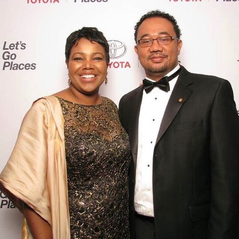 Kellie Shanygne and his wife
