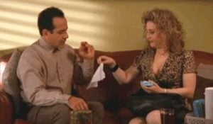 Bitty Schram with Tony Shalhoub On-Screen