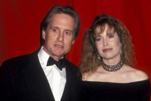 Diandra Luker with her past partner, Michael Douglas