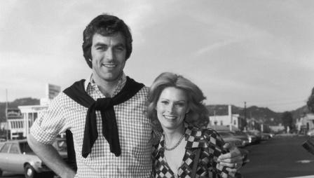 Jacqueline Ray with her former spouse Tom Selleck