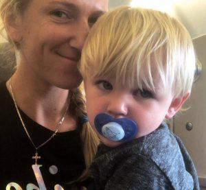 Victoria Azarenka with her son, Leo from her ex-partner