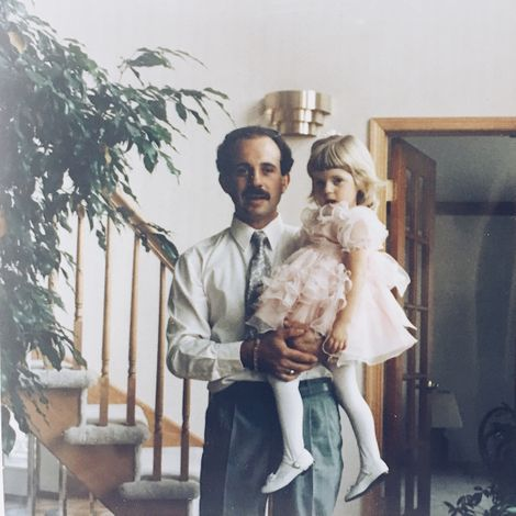 Lauren Pesce along with her father