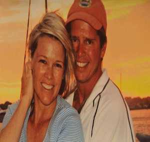 Heather Unruh with her husband, Nick Little