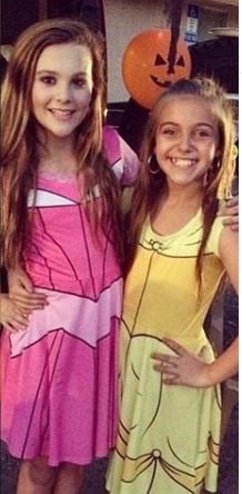 Jordan Beckham with her elder sis