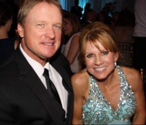 Cindy Gruden with her husband, Jon Gruden