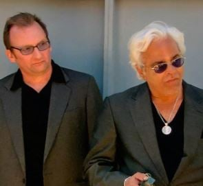 Johnny Fratto with Jesse James on the set of Spike TV