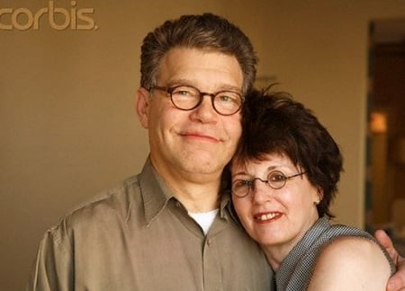 Franni Bryson and her husband Al Franken