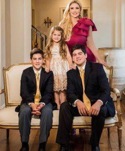 Tyrus's girlfriend Ingrid with three children
