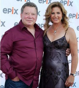 Elizabeth Shatner with her husband, William Shatner