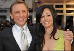 Fiona Loudon with her ex-husband, Daniel Craig