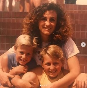 Urijah Faber with his mother and brother, Ryan in his childhood