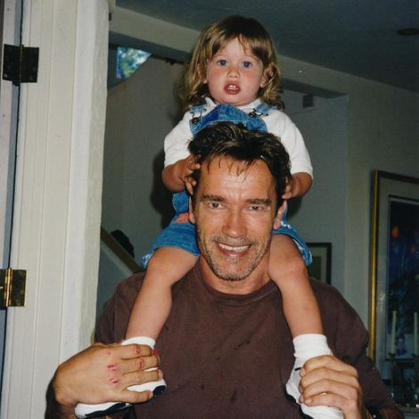 Christopher Schwarzenegger with his father, Arnold
